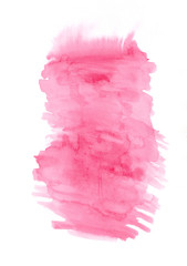 Pink watercolour vertical gradient background painted on the special paper.