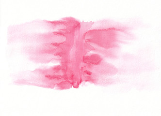 Light rose or magenta watercolour gradient running stain. Beautiful abstract pink background for designers, mock-ups, invitations, postcards, like canvas for text and congratulations.