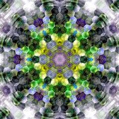 Hexagonal mandala. Closeup for decorative design. Ornamental arabesque. Hexagon background.