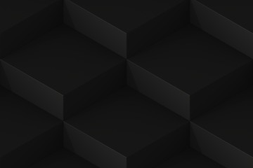 Black Square Abstract Background. 3D Render Background