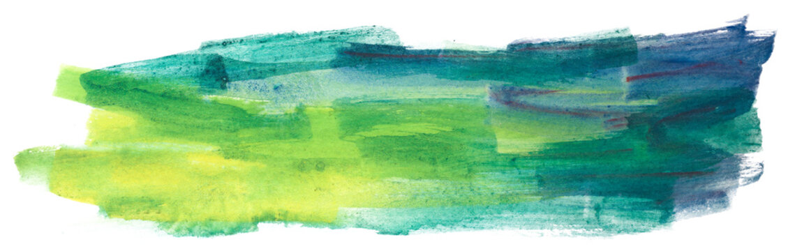 green with yellow color watercolor with a texture