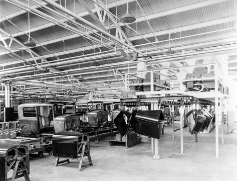 Ford assembly line: United States, 1930