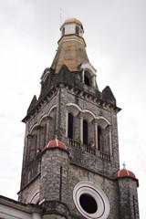 bell tower windows and rosette of Parroquia de San Francisco de Asís