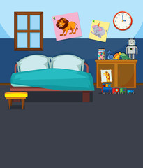 A bedroom interior template