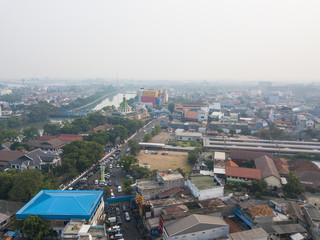 Aerial view of Tangerang area, Indonesia.