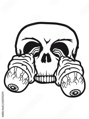 Augen Skelett Schdel Knochen Kopf Ausgerissen Sehen Zombie Tot