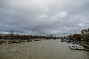 Senna river, Photo image a Beautiful panoramic view of Paris Metropolitan City