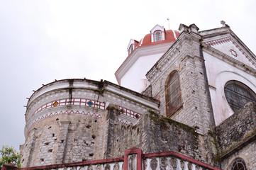 stained glass and back part of Parroquia de San Francisco de Asís