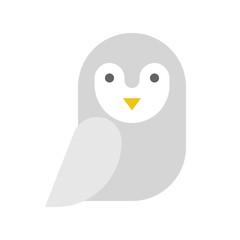 barn owl, Halloween related icon, flat design