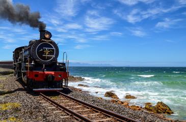 Steam Train By The Ocean