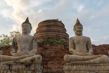 タイ・アユタヤ・遺跡・仏陀・Wat Yai Chai Mongkon