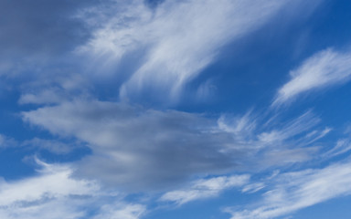 Clouds and Blue Sky Background. Design Pattern and Textures