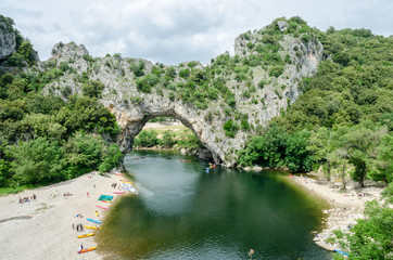 The famous Pont d'Arc in France