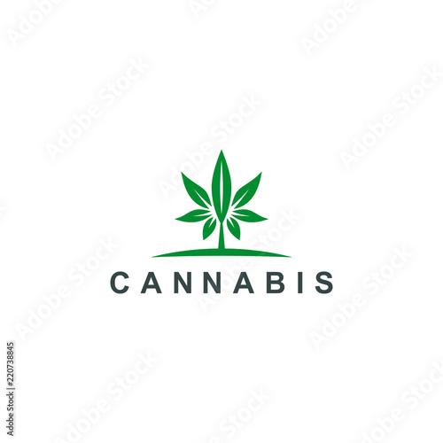 Cannabis Logo Marijuana Medical Leaf Icon Symbol Logo Template