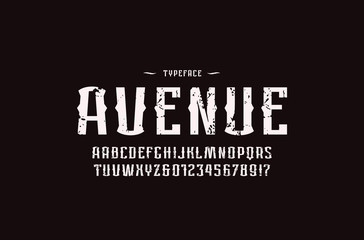 Decorative sans serif font in retro style