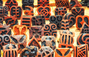 Adinkra cloth stamps
