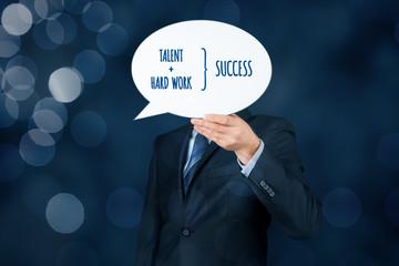 Talent and hard work make success