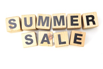 summer sale alphabet letters isolated on white background