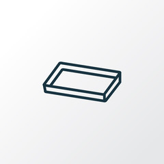 Baking sheet icon line symbol. Premium quality isolated cake tray element in trendy style.