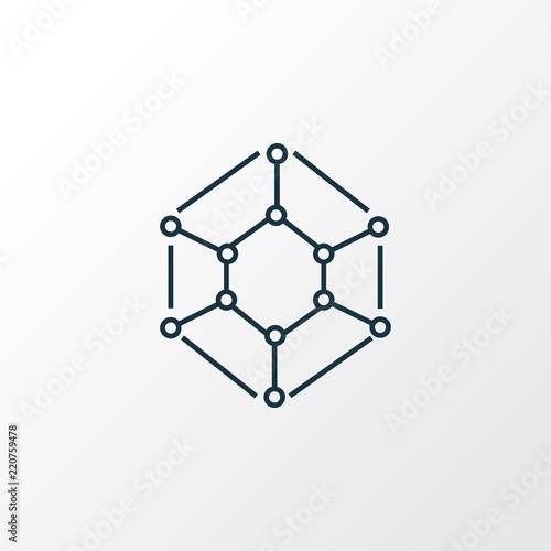 Physics Icon Line Symbol Premium Quality Isolated Molecule Element