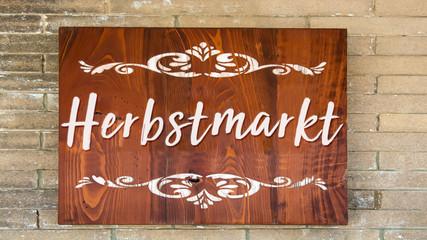 Schild 344 - Herbstmarkt