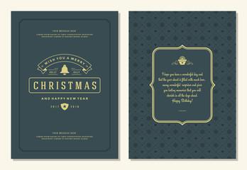 Christmas greeting card design template.