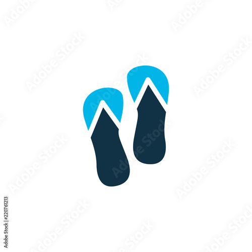 603594e70 Flip flops icon colored symbol. Premium quality isolated beach sandal  element in trendy style.