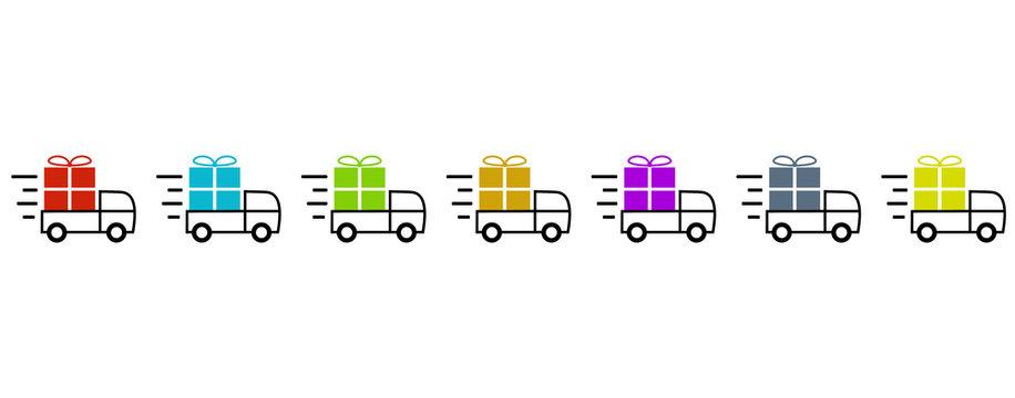 Schnelle Lieferung und Transport von Geschenken mit 7 Lastern