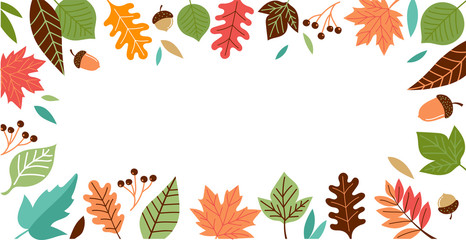 Hello Autumn, fall season background, banner