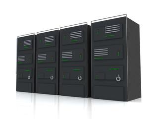 network servers in data center. internet concept