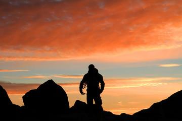 Bergsteiger Morgen