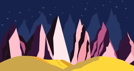 Space landscape mountains on a distant planet