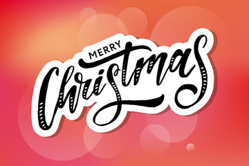 Congrats lettering Calligraphy Brush Text Holiday Vector Sticker