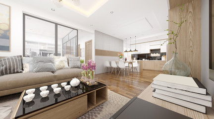 3d render of living room