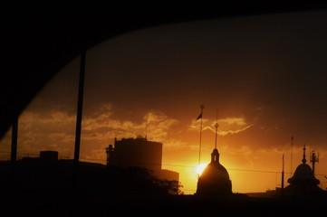 Temple/Mosque silhouette  Fototapete