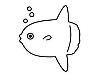 マンボウ泡(線画)