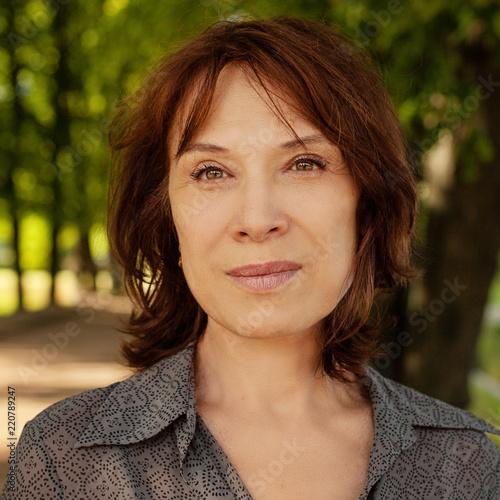 Mature lady facial