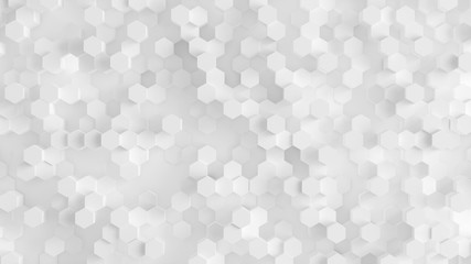 White background with honeycombs. 3d illustration, 3d rendering.