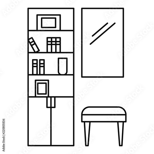 Read room icon  Outline illustration of read room vector icon for