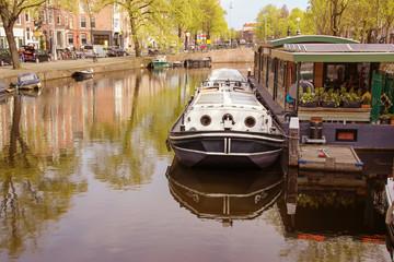 Amsterdam, Canal, Boat, Panorama