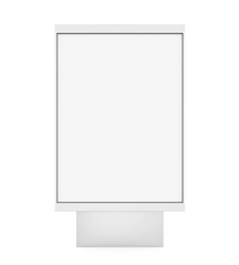 Blank Advertising Billboard Stand Isolated