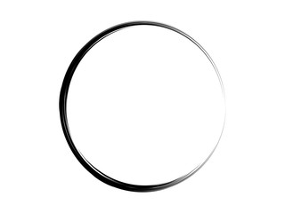 Grunge ink frame.Grunge circle.Oval ink shape.Grunge paint circle.