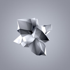 Abstract gray shape. 3d illustration, 3d rendering.