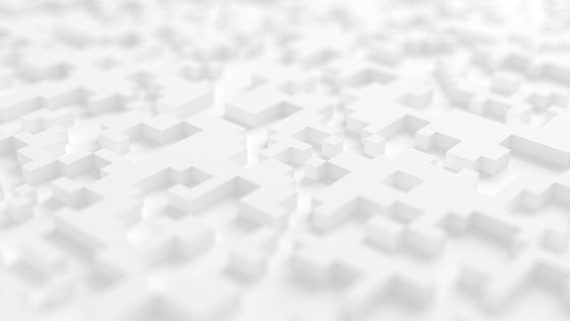 Abstract white city background. 3d illustration, 3d rendering.