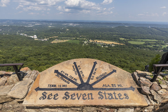 See Seven States Overlook - A scenic overlook where on a clear day you can see seven states.