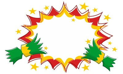 Christmas Cracker Pull with Outline Star Flash Background