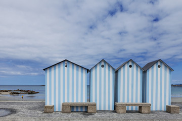 blue cabins in brittany
