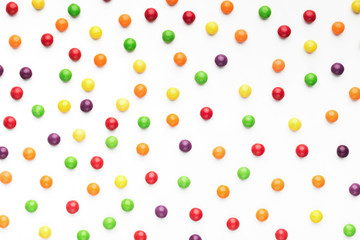 Colorful food background of sweet candy dragee