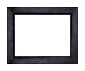Black wood frame isolated on white background. Object with clipping path