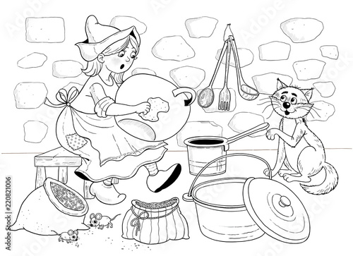 Cinderella Fairy Tale Coloring Page Coloring Book Cute Cartoon